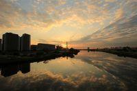多摩川鏡景