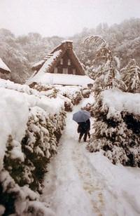 雪の日本民家園