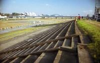 旧オートレース場客席跡