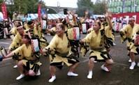 市民祭りで阿波踊り