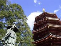 川崎大師八角塔と弘法さん