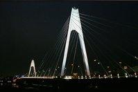 夜空に輝く大師橋
