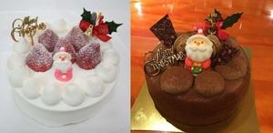 ①生クリームデコレーションケーキ②生チョコクリームデコレーションケーキ