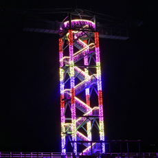 [weekdays only] Let's see huge illumination ground painting from Bungee tower observation platform!