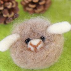 羊毛ニードルブローチ作り:期間限定(2019.12/7~2020.1/26)