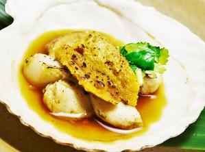 帆立貝のうに醤油焼き