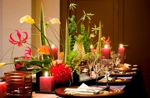 結婚パーティーはお客様のお好みにあわせてディスプレイさせていただきます。