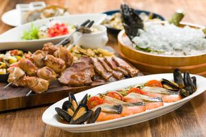◆夏プラン◆ 清水三保産活ヒラメの氷室造りと豪快肉盛り 夏の味覚堪能プラン
