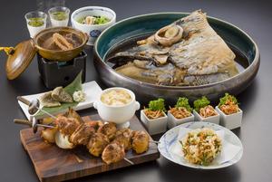 豪快!鮪のカブト煮と地魚のしずおか茶漬け 静前コースプラン