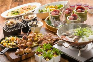 ◆春プラン◆ 桜鯛と春野菜のアクアパッツァと豪快!肉盛りプラン