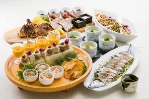 ◆秋プラン◆名物!熟成香味干し 骨付き肉の炭焼きプレートときのこの和風ペペロンチーノ宴席【お料理のみ】