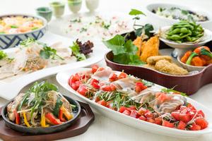 ◆夏プラン◆ 暑気払い・納涼会 ボリューム満点の8品宴席プラン【飲み放題150分付き】