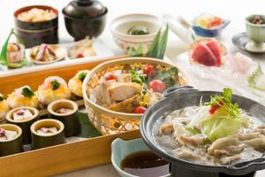 ◆春プラン◆ 春キャベツと豚肉の陶板蒸しと春皿鉢盛りプラン