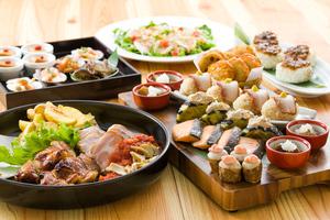 豪快肉盛りと秋色皿鉢の宴席プラン【飲み放題120分付】