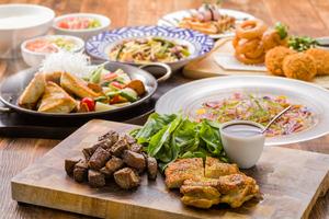 ◆春プラン◆しずまえカルパッチョ、ローストビーフ春を彩る大皿美食プラン【120分飲み放題付き】