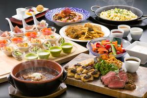 彩り洋食オードブルバリエと厚切りローストビーフのパーティープラン