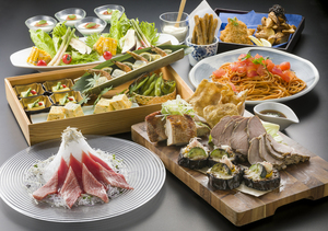 【夏の納涼会】天然南鮪のカルパッチョと豪華肉盛り付きコース
