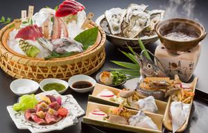 倉沢鯵、天然南鮪トロ、しずまえ太刀魚の「銀しゃぶ」の覚弥会席プラン 飲み放題付き
