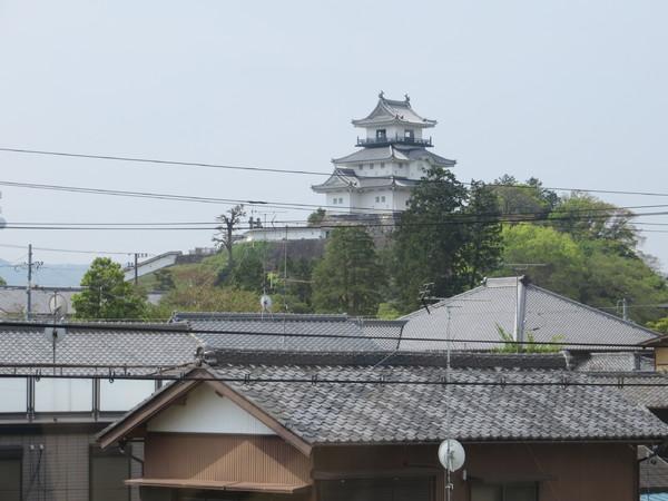 掛川城を望む