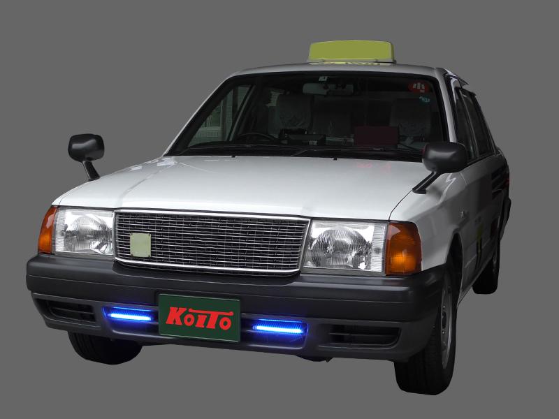 車両への装着例②  コンフォート(200㎜ブルー)