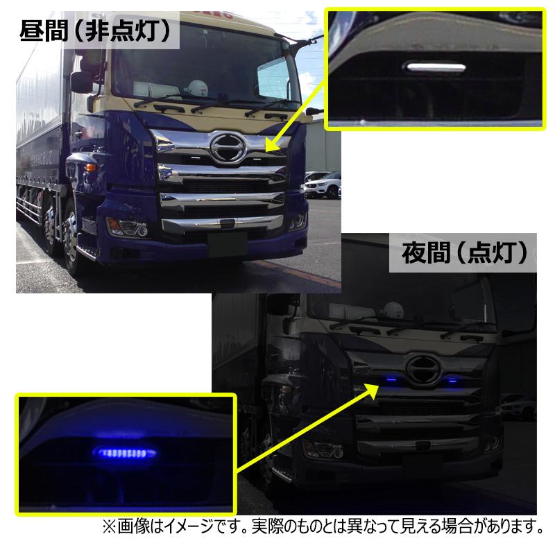 車両への装着例(ブルー)