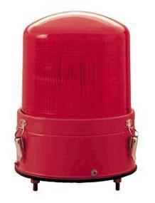 赤色AC100V警光灯  8型