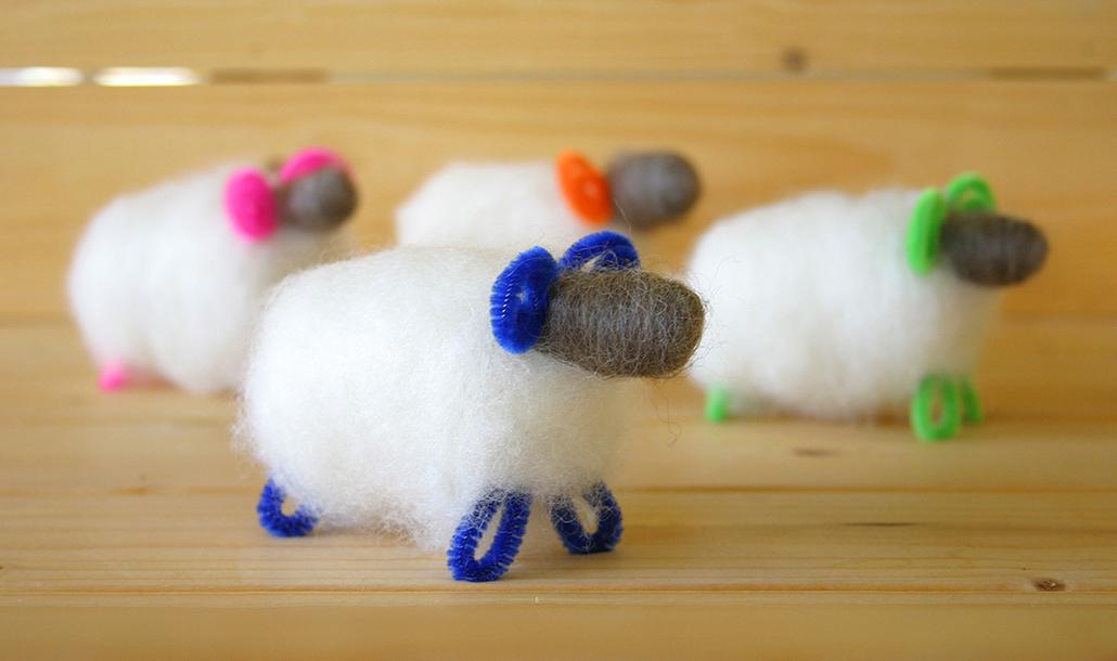 羊の人形作り