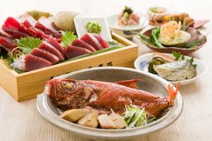 絶品金目鯛の姿煮と浅蜊と新筍のコロッケのコース