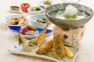 ◇夏プラン◇ しずまえ絶品!鯵フライと浜名湖産青海苔豆腐プラン