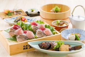 ◆冬プラン◆  120分飲み放題付き!魚弥長久盛り刺身7点盛りとかさご姿煮付きプラン