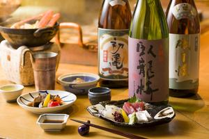 【冬プラン】人気地酒 磯自慢 臥龍梅 初亀飲み放題付きプラン   11月20日より承ります