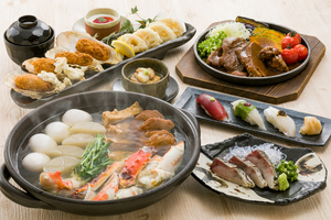 【冬コース】たらば蟹おでんと名物 牛ほほ肉の十千焼きコース   11月20日より承ります