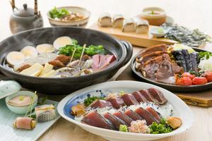 【春コース】初鰹わら焼きと桜鯛のおでんコース