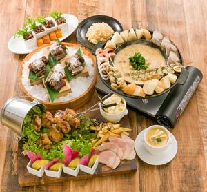 ●春プラン●魚介たっぷりのチーズタッカルビ&豪快肉盛!春の宴席プラン【120分飲み放題付き】