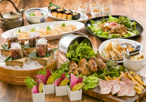 ●日〜木曜限定●肉&魚「ABURI尽くしを召しませ!!」春の宴席プラン【120分飲み放題付き】