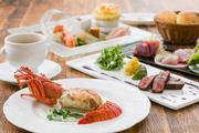 牛もも肉とフォアグラの炭火焼き「ロッシーニ」と駿河湾天然地魚 炙之介極みプラン