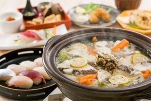 ◆冬プラン◆ゆず香る真鯛鍋と冬の美食会席6,000円(税込)