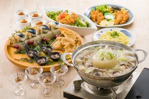 ◆冬プラン◆名物!草薙皿鉢と選べる富士山鍋の宴席コース【お料理のみ】