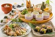 ◆夏プラン◆ 【日〜木限定】完全個室で楽しむ、旬素材の夏皿鉢と肉盛りの生ビール付飲み放題 暑気払いプラン