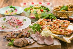 【春プラン】シーフードピザと低温熟成ローストビーフ付きコース
