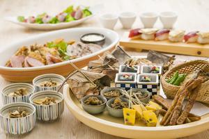 ◆秋プラン◆ 秋の味覚尽くし皿鉢と豪快3種のグリル肉盛りプラン【120分飲み放題付き】