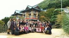 富士屋ホテル花御殿の前で参加者全員